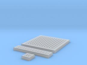 SciFi Tile 12 -  Square Grating in Smooth Fine Detail Plastic