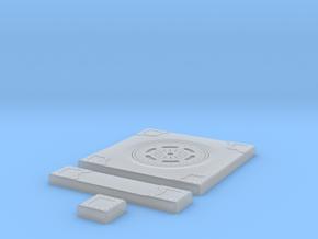 SciFi Tile 13 - Manhole in Smooth Fine Detail Plastic