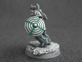 Miniature Shield 2 in White Acrylic