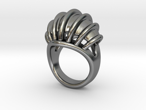 Ring New Way 26 - Italian Size 26 in Fine Detail Polished Silver
