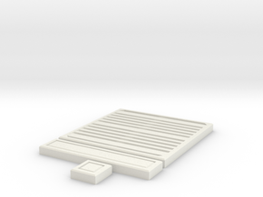 SciFi Tile 19 - Grating in White Natural Versatile Plastic