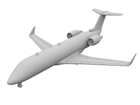 1:400 - CRJ_100  in Smooth Fine Detail Plastic