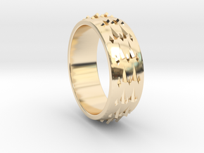 RidgeBack Ring Size 6 in 14k Gold Plated Brass