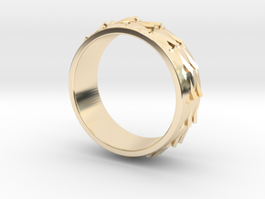 RidgeBack Ring Size 7.5 in 14k Gold Plated Brass