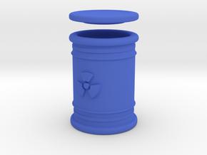 Radioactive Waste Barrel in Blue Processed Versatile Plastic
