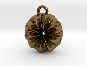 Warp Ring Pendant in Polished Bronze