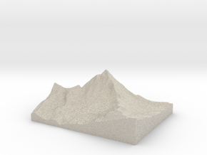 Model of Matterhorn in Sandstone