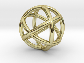 0402 Spherical Cuboctahedron (d=2.2cm) #002 in 18k Gold
