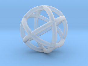 0402 Spherical Cuboctahedron (d=2.2cm) #002 in Smooth Fine Detail Plastic