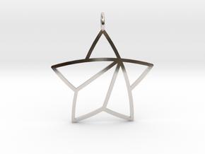 Achievement Star Pendant in Rhodium Plated Brass