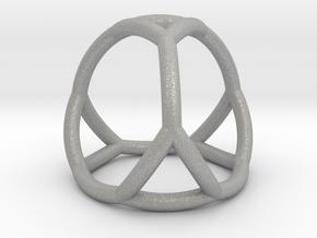 0406 Spherical Truncated Tetrahedron #002 in Aluminum