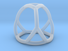 0406 Spherical Truncated Tetrahedron #002 in Smooth Fine Detail Plastic