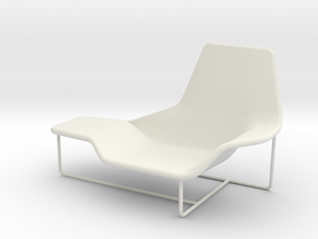 Lama 921 Lounge Chair 1:24 in White Natural Versatile Plastic