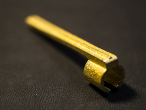 A Metal Apple Pencil Clip [ iPad Pro ] in Polished Gold Steel
