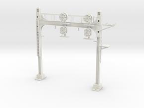 HO Scale PRR W-signal Beam 2 Track in White Natural Versatile Plastic