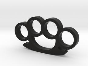 Round Knuckle Duster Ornament in Black Natural Versatile Plastic