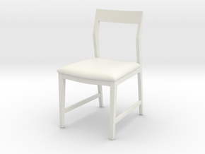 1:24 Danish Modern Chair in White Natural Versatile Plastic