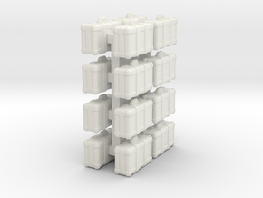 1-87 Pistol Cases in White Strong & Flexible