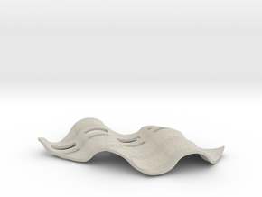 Soap Dish Zwei in Natural Sandstone