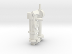 Wheel Mount & Telegraph in White Natural Versatile Plastic