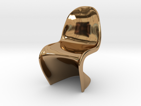 Panton Chair 5.5cm (2.2 inches) Height in Polished Brass