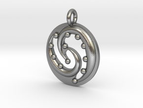 Celtic Flow Pendant in Natural Silver