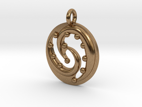 Celtic Flow Pendant in Natural Brass