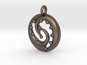 Celtic Flow Pendant in Polished Bronzed Silver Steel
