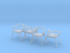 1:48 YY Chair Set in Smooth Fine Detail Plastic
