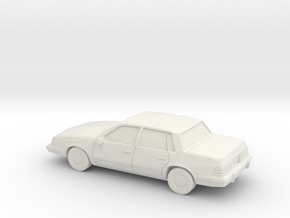 1/87 1981-90 Pontiac 6000 in White Natural Versatile Plastic