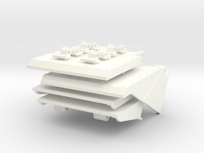 1/16 HL Pz IV Mud Flaps (Early) in White Strong & Flexible Polished