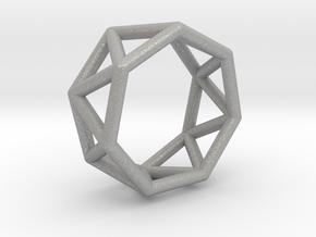 0346 Heptagonal Antiprism E (a=1cm) #001 in Aluminum