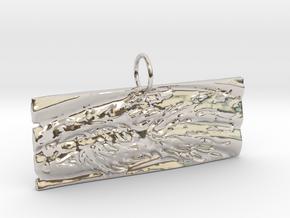 New Beginnings II Keychain/Pendant in Platinum