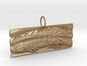 New Beginnings II Keychain/Pendant in Matte Gold Steel