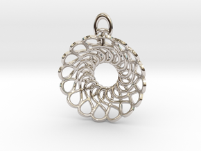 Forever and Always Pendant in Rhodium Plated Brass