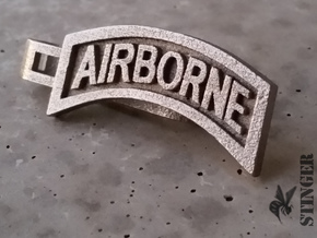 Airborne Tab Tie Bar in Polished Nickel Steel