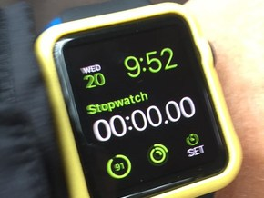 Apple Watch Bumper (42mm Original model) in Yellow Processed Versatile Plastic