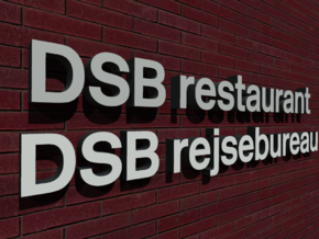 DSB Restaurant & DSB Rejsebuereu (K74) 1/87 in White Strong & Flexible