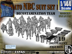 1-144 NATO NBC Suit Set 1 in Frosted Ultra Detail