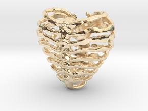 Broken Heart in 14k Gold Plated Brass