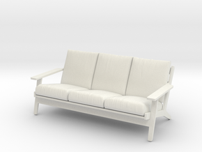 1:24 Wegner Sofa in White Natural Versatile Plastic