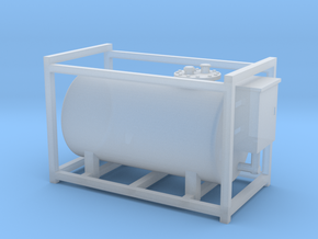 HO - Medium Diesel Tank in Smooth Fine Detail Plastic