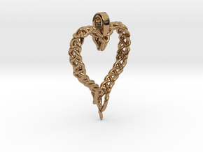 Celtic Unraveled Heart  in Polished Brass