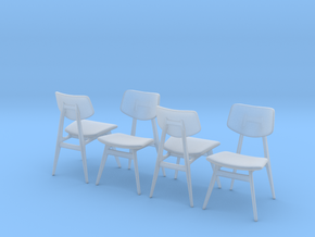 1:48 C 275 Chair Set of 4 in Smooth Fine Detail Plastic