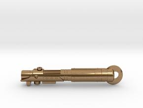 Starkiller Saber Keychain in Natural Brass