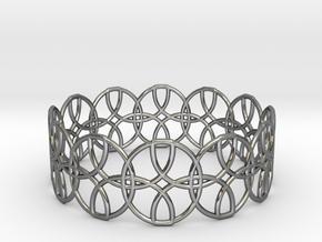 Enneper Curve Bracelet in Fine Detail Polished Silver
