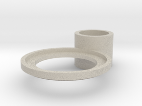 tea candle holder (handle) in Natural Sandstone