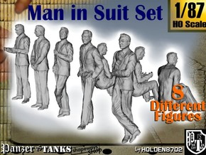 1-87 Man In Suit SET in Smooth Fine Detail Plastic