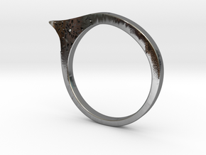 Modern ring US size 8 in Polished Silver