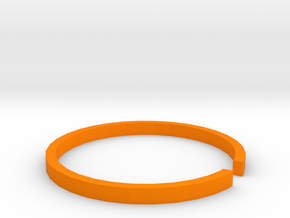 40mm Lens Retainer in Orange Processed Versatile Plastic
